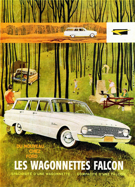 1960 Ford Falcon Station Wagons (Canadian Ad, Pg. 1) by aldenjewell on Flickr.1960 Ford Falcon Station Wagons (Canadian Ad, Pg. 1)