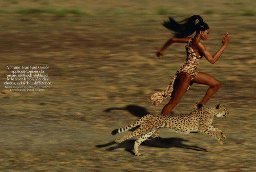 Naomi Campbell by Jean Paul Goude in Wild things for Harper's Bazaar US 2009
