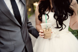 This was me on my wedding day too! #icedcoffee #starbucks