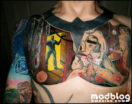 I love Shannon's chest piece