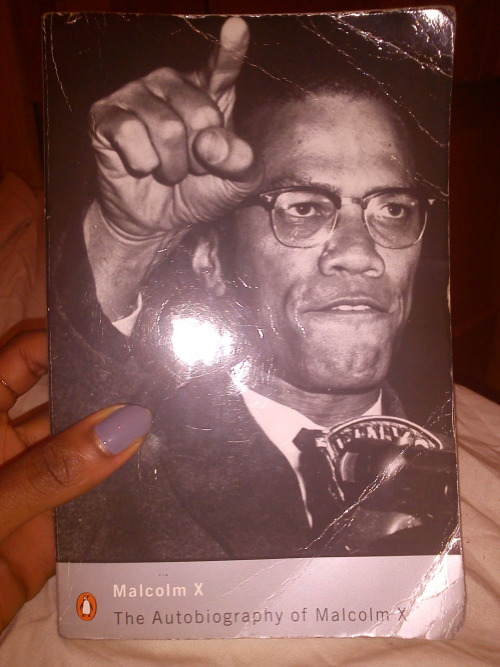 "Speaking of white people averting their gaze, The Autobiography of Malcolm X has been causing quite the furor when I dare to take it out and read it in public. I think it's a little much for everyone to see a brown girl with waist length braids engulfed in this particular book; I may as well be shouting ""I'm black, I'm proud"" everywhere I go.  The reaction it gets is merely a bonus however, as it's one of the most powerful insights into the Civil Rights struggle and remains enduringly poignant. The face of prejudice may have changed but the ignorance that governs that mindset is constantly repeated today. The principles of tolerance and understanding the world from a higher plane are littered throughout the book making it something I can't wait to read again. It's not about just understanding the detriment of prejudice that makes the autobiography so worthwhile and edifying, it's that it encourages you to become introspective. The use of Malcolm's journey from damaging pride to selfless humility allows this book to be a lesson in how to understand the error of your ways and further your endeavours by voicing your opinions with unrelenting dignity."