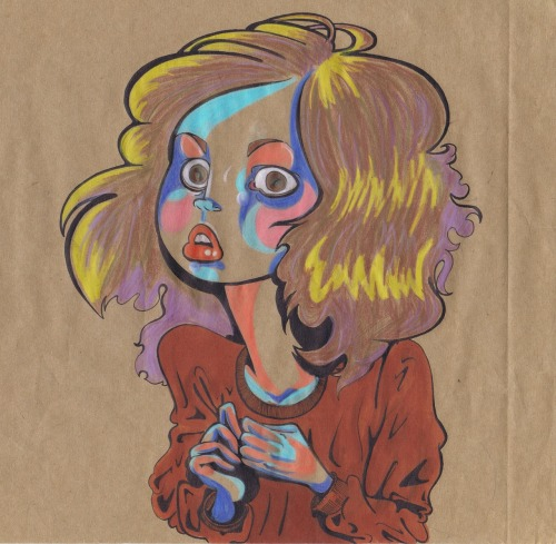 a self portrait i did in 2008, today i look very much like this still.