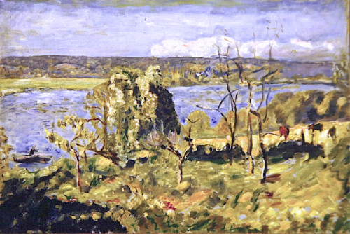 bofransson:  Blue Seine at Vernon - Pierre Bonnard