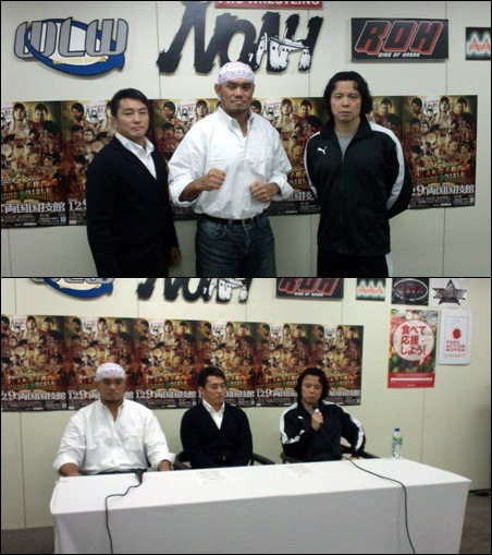 "[NOAH News] Pro Wrestling NOAH announced another match for the upcoming ""GREAT VOYAGE 2012 in RYOGOKU vol.2"" on December 9th which will see a special 6 man tag match pitting NOAH vs. All Japan. Along with this announcement was that Yoshinari Ogawa will be officially returning to the ring in December, more specifically on December 4th.Ogawa has been sidelined since November 14, 2011 following a big head drop from Bison Smith's Bisontenniel maneuver. Ogawa says that he has finally built himself back up to once again be in the right form to compete and that he hopes he can do his best.The match will see Jun Akiyama teaming with Yoshinari Ogawa and his protege Atsushi Aoki as they take on Taiyo Kea, Akebono and Kaz Hayashi from All Japan. An interesting fact is that Ogawa and Akebono have previously faced one another, in tag match form, back during the WRESTLE-1 GP 2005, which saw Ogawa's partner Misawa defeat the former Yokozuna. Of course Akiyama and Kea have recent history over the Triple Crown Championship. Then Aoki is ever looking to bring the GHC Jr. belt back home to NOAH, and a win over Hayashi could give him a chance to become a contender once again against Shuji Kondo.Below is the updated event card.NOAH ""GREAT VOYAGE 2012 in RYOGOKU vol.2"", 12/9/2012 [Sun] 15:00 @ Ryogoku Kokugikan in TokyoNewly Announced: (-) NOAH vs. AJPW Special 6 Man Tag Match: Jun Akiyama, Yoshinari Ogawa & Atsushi Aoki vs. Taiyo Kea, Akebono & Kaz HayashiPreviously Announced:(-) GHC Junior Heavyweight Tag Championship Match: [16th Champions] ""Los Mexitosos"" Super Crazy & Ricky Marvin vs. [Challengers] ""NO MERCY"" Yoshinobu Kanemaru & Genba Hirayanagi~ 3rd Defense.(-) GHC Junior Heavyweight Championship Match: [25th Champion] Shuji Kondo vs. [Challenger] Kotaro Suzuki~ 2nd Defense.(-) GHC Tag Championship Match: [26th Champions] Go Shiozaki & Akitoshi Saito vs. [Challengers] Naomichi Marufuji & Takashi Sugiura~ 1st Defense.(-) GHC Heavyweight Championship Match: [18th Champion] Takeshi Morishima vs. [Challenger] Satoshi Kojima~ 8th Defense."