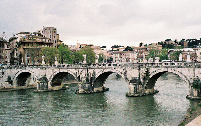 | ♕ |  Bridge to Castle St'Angelo - Rome  | by © Inna Kostukovsky