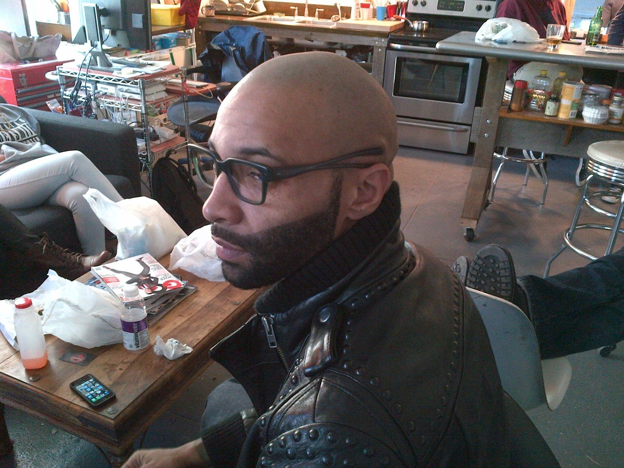 Check out this behind the scenes shot of Slaughterhouse's Joe Budden, in the Moss/Smoke optical Krieger style by Activist Eyewear