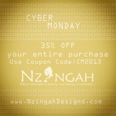 35% OFF www.NzingahDesigns.com #sale #CyberMonday  #NzingahDesigns #jewelrydesigner #jewelry #fashion #design #handmade #eaoc