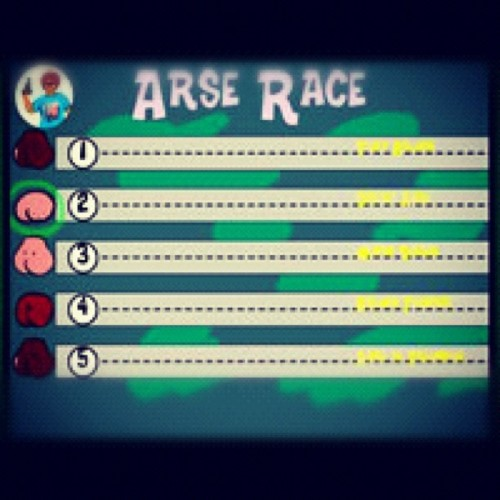 just for you @jmorgan19 #bums #booty #ohdamn #arserace #worstgame #sostupid #stupid #farts #stinky #whipsandbeans #notagoodcombo #ohdear #followpeeps #ifollowback  #xoxo