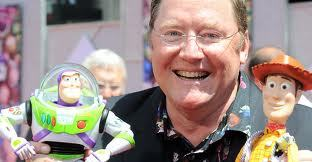 John Lasseter with Woody and Buzz <3