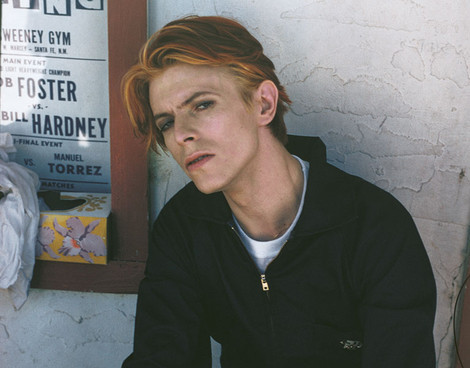 David Bowie on the set of The Man Who Fell To Earth in New Mexico, by Geoff MacCormack.
