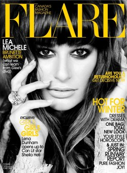Magazine (Flare December 2012, Lea Michele by Max Abadian, via thecysight)