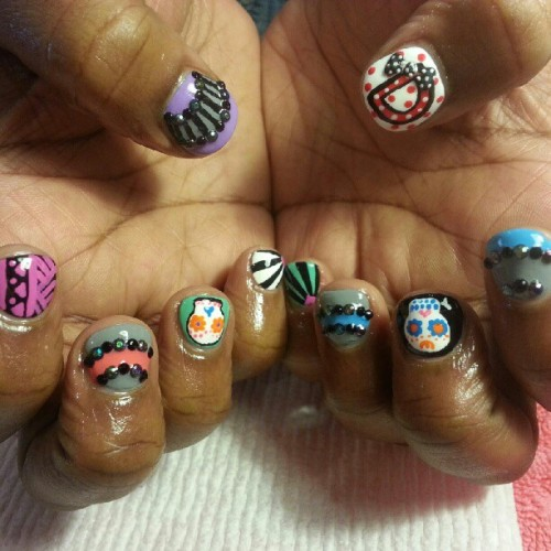 Mixed up bday nails! #nails #nailart #instanails