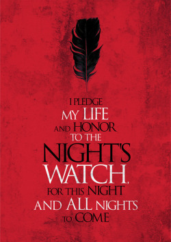 a-zombie-diary:  Rodolfo Pinatti: the Night's Watch Vow