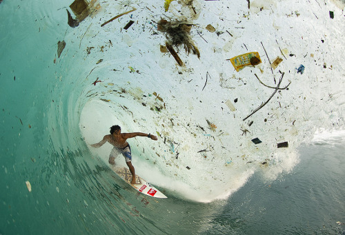 Enough trash in the ocean to spoil even the most isolated places in the world. Dede Suryana Indonesia Photo by Zak Noyle