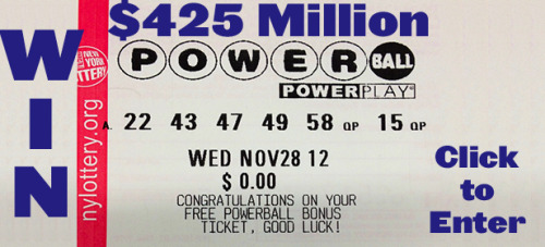 The next Powerball jackpot is $425 MILLION. We bought a ticket to split with you. It's free, and easy to enter our contest. Reblog this, then complete your entry right here — no scam, no entry fee, just splitting a HUGE jackpot with us.