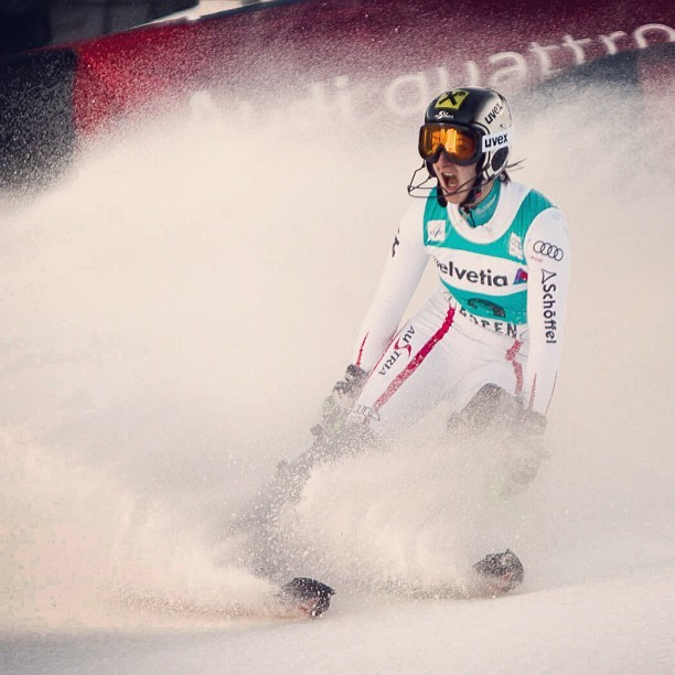 You'd be screaming too if you just won a World Cup Slalom. #aspenworldcup