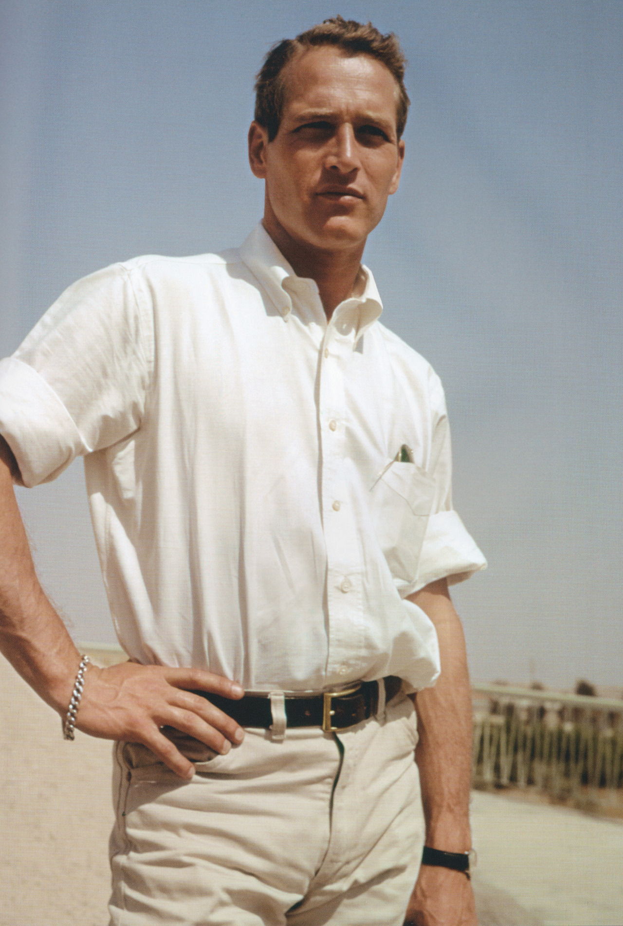 voxsart:  Natural Partners: Rolled Collar and Rolled Sleeves. Paul Newman.