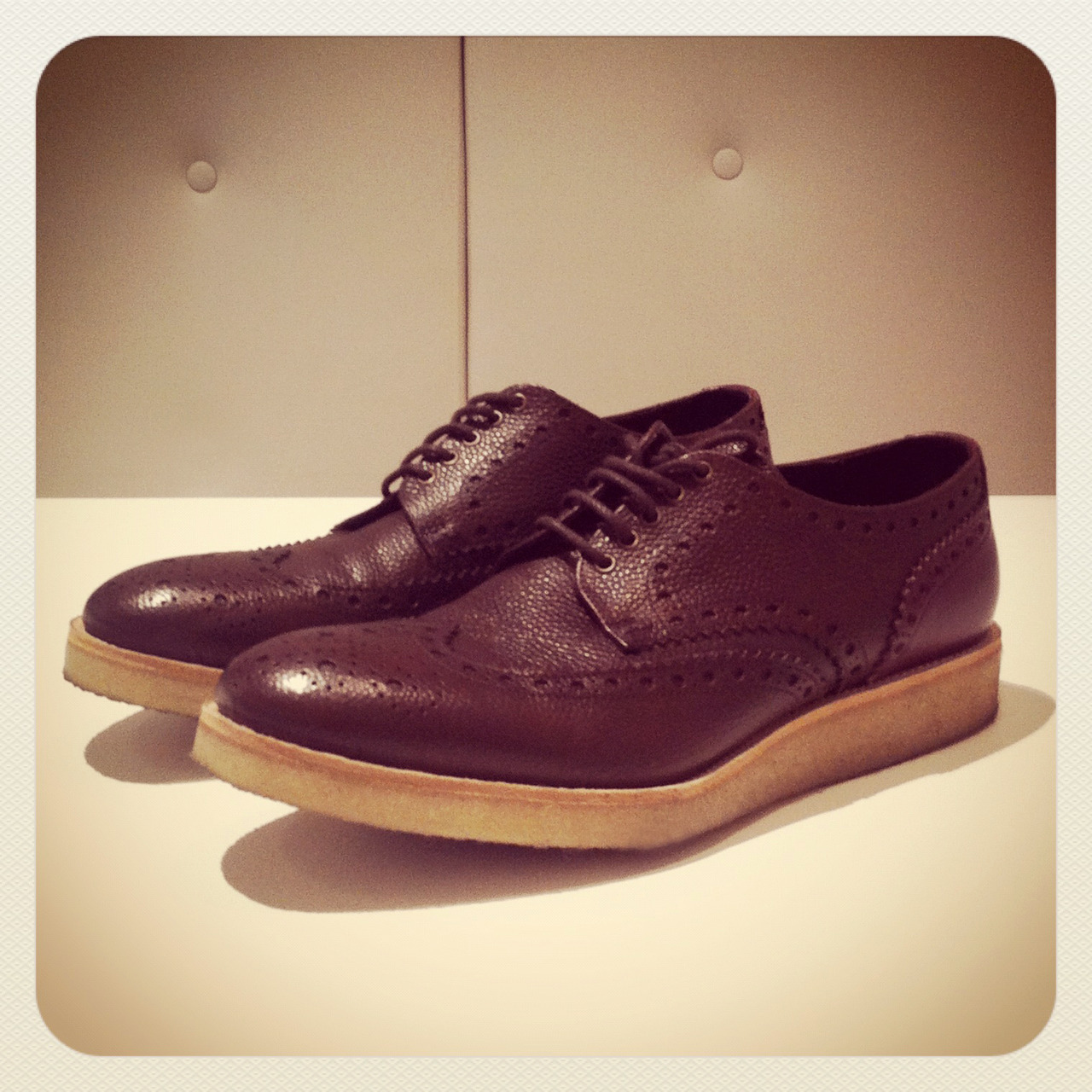 Perfect for winter, we're coveting Paul Smith's crepe-sole brogues. SHOP at: http://bit.ly/TguKHv