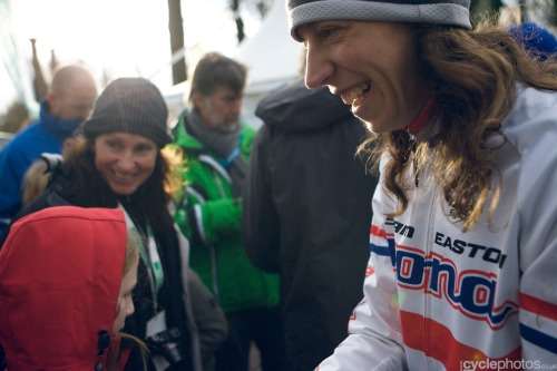 """Helen Wyman gives autographs"" - via cyclephotos │cyclocross photograpy » Superprestige #4 – Gieten After winning Gieten! Superb photos of the race from Balint Hamvas on Cyclephotos - click through and check them out!"
