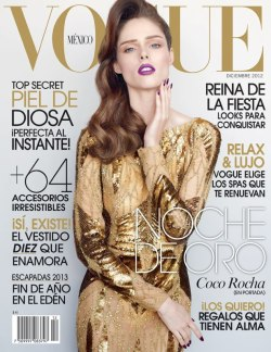 oh-so-coco:  VOGUE MEXICO - December, 2012 This is one of three covers I did for this months Vogue Mexico. Dress bt Elie Saab. Stay tuned for the others + editorials…