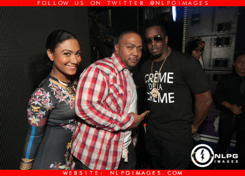 "Felisha Monet, Timbaland, Diddy - #MiamiNightLife NLPGimages ""We're Everywhere You're Not"""