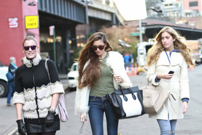 A very stylish trio takes Washington Street by storm…Meatpacking District, NYC (via Stylespotting)