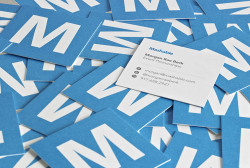 These petite business cards are short and sweet.