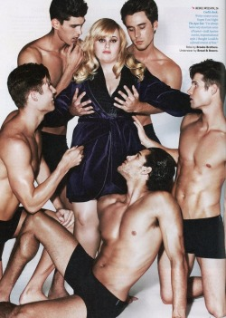 samberrilicious:  dreamsandwhispers:  tylersashtray:  Rebel Wilson for Details Magazine  She's so fab  It's really fucked up just how much they photoshopped her to look smaller.You think I don't see how the hips don't match up with the guy on the right by a fucking mile because they shrunk down her hips?Or how the pelvis on the guy on the left looks awkwardly shaved off so they could put in the white backdrop so it's looks like she takes up less space? I fucking notice.And they have the audacity to think they're doing fat girls a favor by tossing in a few paid male models to grope at her breasts so that for once a fat girl gets to feel wanted. That for once a fat girl gets to feel fuckable by the kind of men that we are told will never want us.Fuck this photoshoot because my body doesn't need your faux pity acceptance. Rebel Wilson deserves so much more than this. She deserves raw, unforgiving attention because she is a raw, unforgiving person just like the rest of us.
