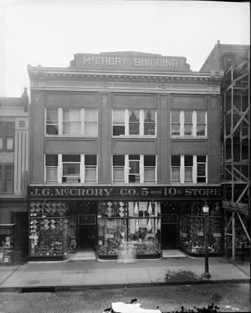 J. G. McCrory Co. 209 West Lexington Street, Baltimore, Marylandca. 1920Hughes Company8 x 10 inch glass negativeBaltimore City Life Museum CollectionMaryland Historical SocietyMC6865
