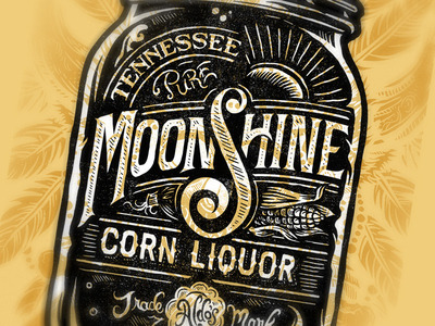Pure Tennessee Moonshine Corn Liquor by Derrick Castle