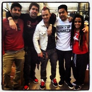 jacked this from Dom's instagram- me, Sid Wilson, Chino, Brooklyn Dom, Bobby Hundreds, not in that order. yeeeeee
