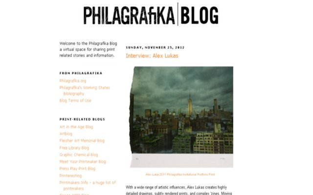 Check out my interview with Alex Lukas on the Philagrafika blog