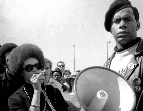 blackmanonthemoon:  Kathleen speaking at a Panther Rally 1969