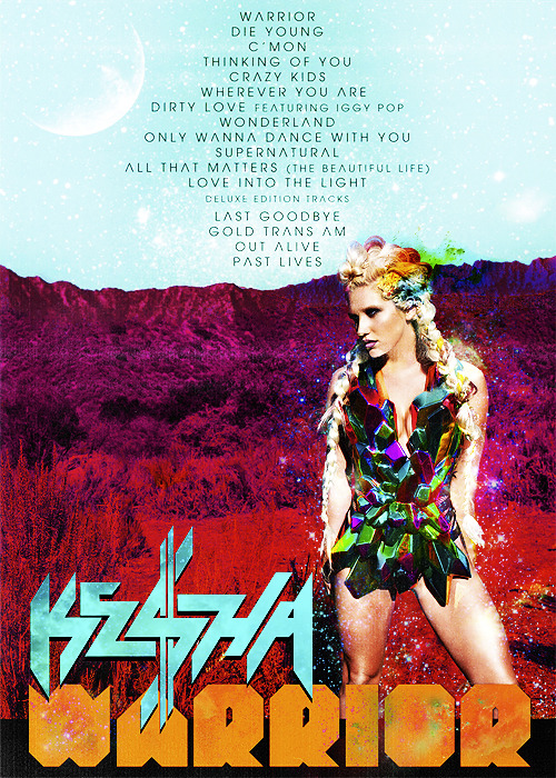 Yum yum, new Ke$ha 'Warrior' out in the U.S. next Tuesday, Dec. 4th!!