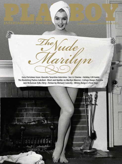 Marilyn Monroe on cover of Playboy Dec 2012#