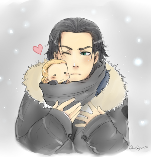 lokisbunny:  When you're cold, have a Thor by Mooching-leech  tumblr stahp ur givin me diabetes