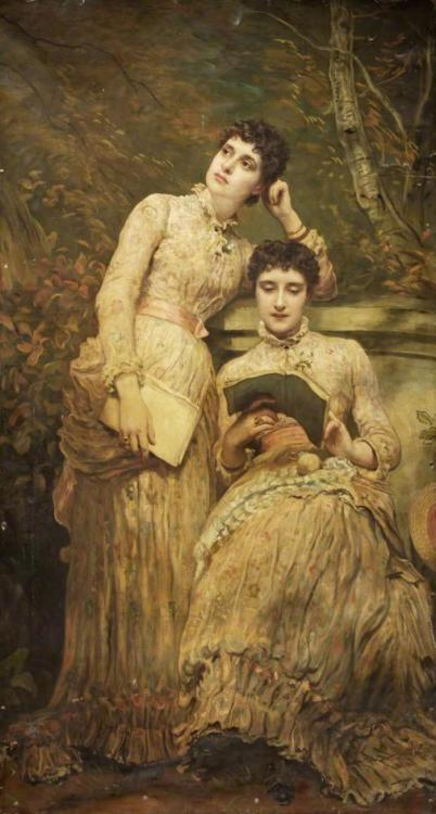 treselegant:  Ida and Ethel (1884) by James Sant.
