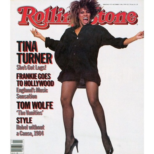 #TinaTurner turns 73 years old today. Here she is on the October 11th, 1984 cover of #RollingStone. Here's hoping she tours again soon! (Via Instagram)