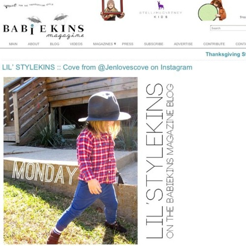 @babiekinsmag has Cove on their blog today! thanks again + everyone check out their b e a u t i f u l mag! xx