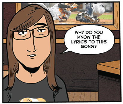 There's a new comic today about recognizing music and what Jenn thinks about that.