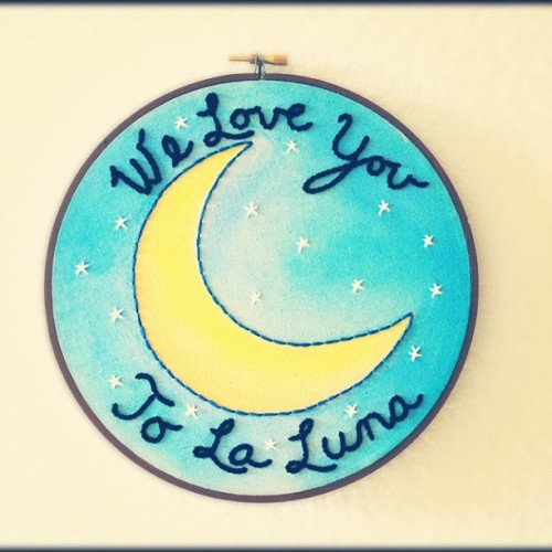 See ya little guy, have fun in your new home <3 #customembroideryhoop #hoopart #moon #laluna