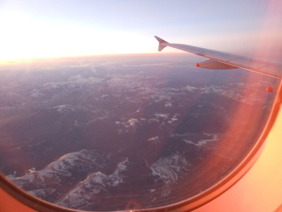 schwartznow:  The window seat at sunset.