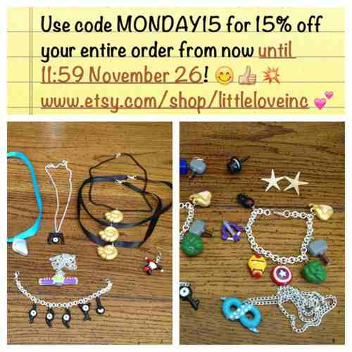 Take 15% off your entire order today and have a happy Cyber Monday :)!