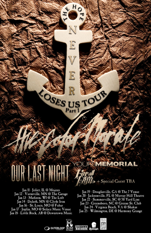 The Color Morale announce tour with Our Last Night, Your Memorial and For All I Am.