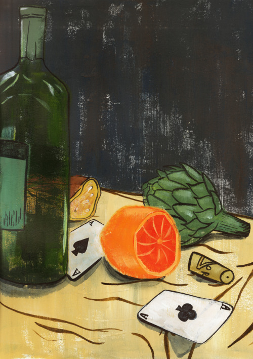 kevinwhippleillustration:  I PAINTED A STILL LIFE GUYS.