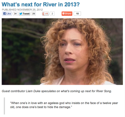 What's next for River in 2013?