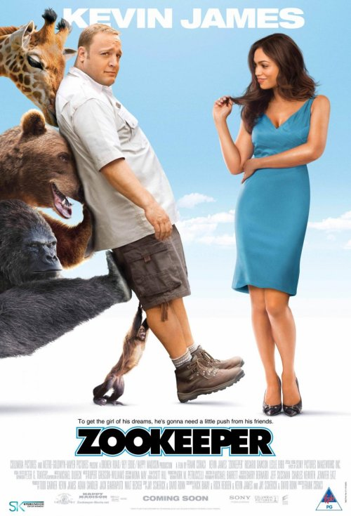 movieisaw:   Plot: In order to win the love of his life back, a zookeeper gets help from the wild animals, who can talk. Review: I watched this movie after liking Here comes the Boom so much. Sadly this film wasn't as good as that one. The main problem was the premise which works okay for a short film but as a feature length movie doesn't hold up. Kevin James is likable and holds his own but the film would problably have been better without the animals. Celebrities fill up the roles of the animals and the best part is figuring out who is who. Sylvester Stallone plays one of the main lions and is only mentioned because of how much I like Stallone. None of the animals have more of a role than to give James outlandish advice. The movie follows the same formula as any romantic comedy and by the end you just want it to finish. I don't think it's terrible and probably better for kids but it is nothing more than forgettable. Trivia:  Geoffry, the famous giraffe that played the Toys R Us mascot, died after filming this movie. He was 18 years old.