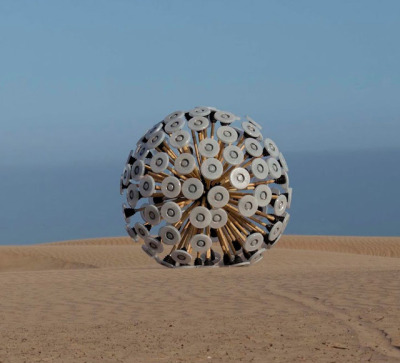 laughingsquid:  Mine Kafon, A Wind-Powered Land Mine Clearing Device  Interesting idea… Though I don't know how they'd solve for the random movement. You don't want to be 'pretty sure' you got all the land mines.
