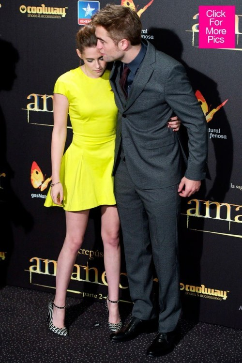 Kristen Stewart and Robert Pattinson at the premiere of 'Twilight: Breaking Dawn Part 2'