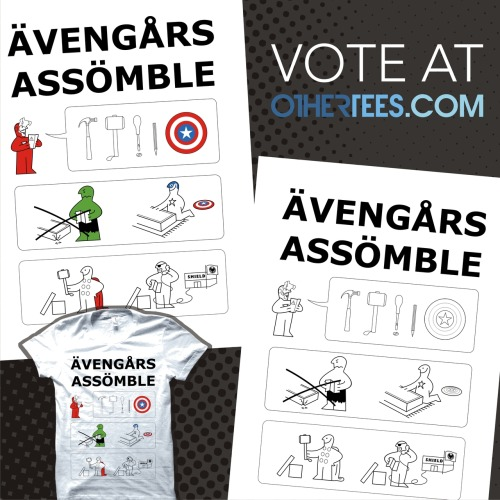 My 'Superheroes Assembling' T-shirt design is now up for voting over at OtherTees.com so if you think that it should be printed please click on the image above and vote!